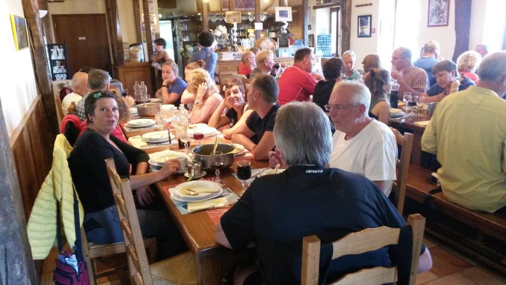 Cena al rifugio Orisson